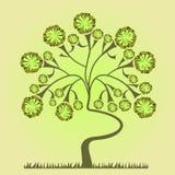 Fond avec un arbre Photo stock