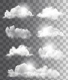 Fond avec un ciel bleu nuageux Photographie stock