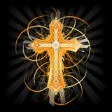Fond avec une croix illustration de vecteur