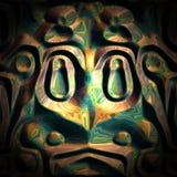 Fond aztèque de grenouille Images stock