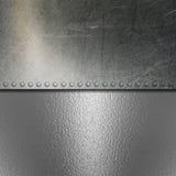 Fond balayé par grunge en métal et de chrome Images libres de droits