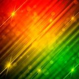 Fond bariolé abstrait avec les lignes et les étoiles brillantes Image stock