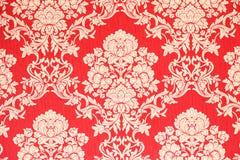 Fond baroque rouge de papier peint Photo stock