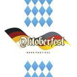 Fond bavarois allemand de logo de drapeau d'Oktoberfest Photo stock