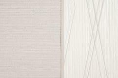Fond beige de papier de texture de toile Photos libres de droits