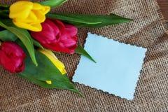 Fond bienvenu avec des fleurs Vacances de conception, le 8 mars, Bi Image libre de droits