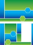 Fond bifold de brochure de vert bleu Image stock