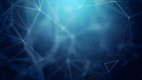 Fond binaire abstrait de mouvement de boucle d'entonnoir de réseaux informatiques de plexus de Digital