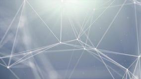 Fond binaire abstrait de mouvement de boucle d'entonnoir de réseaux informatiques de plexus de Digital illustration de vecteur