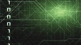 Fond binaire de code de Matrix Concept du codage illustration stock