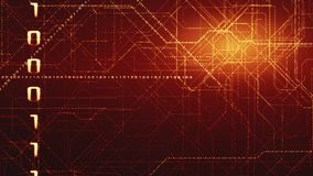 Fond binaire de code de Matrix Concept du codage Photos libres de droits
