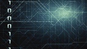 Fond binaire de code de Matrix Concept du codage Photos stock