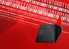 Fond binaire de Digital d'ordinateur portable Photo stock