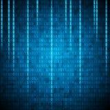 Fond binaire de style de Matrix avec le nombre en baisse illustration stock