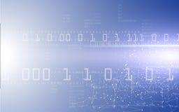 Fond binaire et polygonal de Digital de modèle de technologie de mise en réseau de concept Photo libre de droits