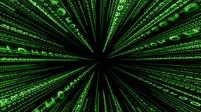 Fond binaire vert de matrice Photographie stock