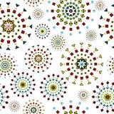 Fond blanc abstrait avec les fleurs stylisées Photo stock