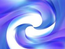 Fond blanc abstrait avec les lignes onduleuses bleues et pourpres Image libre de droits
