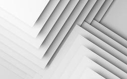 Fond blanc abstrait, 3d géométrique illustration stock