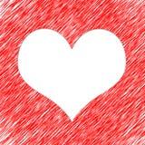 Fond blanc abstrait de coeur Photo libre de droits