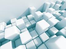 Fond blanc abstrait de mur de cubes Photos libres de droits