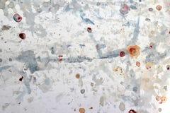 Fond blanc avec brouillé encre-souillé Images stock