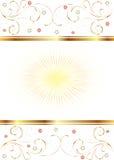 Fond blanc avec de l'or et des étoiles Photos libres de droits