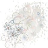 Fond blanc avec des fleurs illustration libre de droits