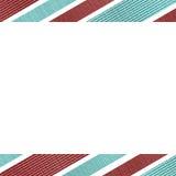 Fond blanc avec des frontières de rayures Images stock