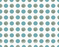 Fond blanc avec des points de bleu et d'argent Images stock