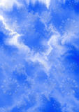 Fond blanc bleu doux de zigzag avec les flocons de neige bleuâtres Image stock