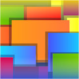 Fond blanc carré coloré Images stock