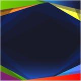 Fond blanc carré coloré Photographie stock libre de droits