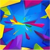Fond blanc carré coloré Photographie stock