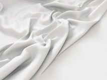 Fond blanc chiffonné de texture de tissu de tissu Image libre de droits