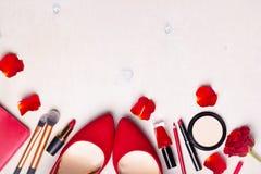 Fond blanc cosmétique Image stock