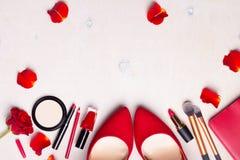 Fond blanc cosmétique Photo libre de droits
