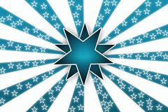 Fond blanc d'étoile Illustration Libre de Droits