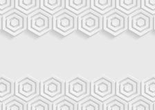 Fond blanc d'abrégé sur papier d'hexagone Images stock