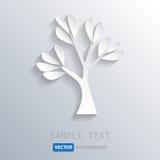 Fond blanc d'arbre, vecteur eps10 Photographie stock