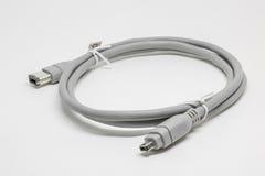 Fond blanc d'isolat de câble d'IEEE Photo libre de droits