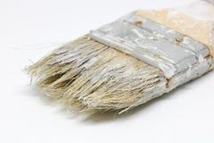Fond blanc d'isolat de pinceaux Images stock