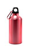 Fond blanc d'isolement en aluminium de l'eau de bouteille Photos libres de droits