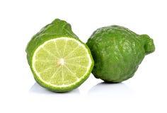 Fond blanc d'isolement par bergamote Photos libres de droits