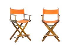 Fond blanc d'isolement par chaise de directeur Image stock