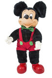 Fond blanc d'isolement par figurine de Walt Disney de souris de Mickey Image stock