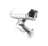 Fond blanc d'isolement par sécurité d'appareil-photo de télévision en circuit fermé Image stock