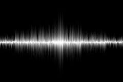 Fond blanc d'onde sonore Photos libres de droits