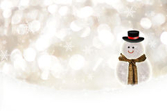 Fond blanc de bokeh de Noël Photographie stock