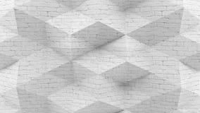 Fond blanc de briques du rendu 3D abstrait illustration stock